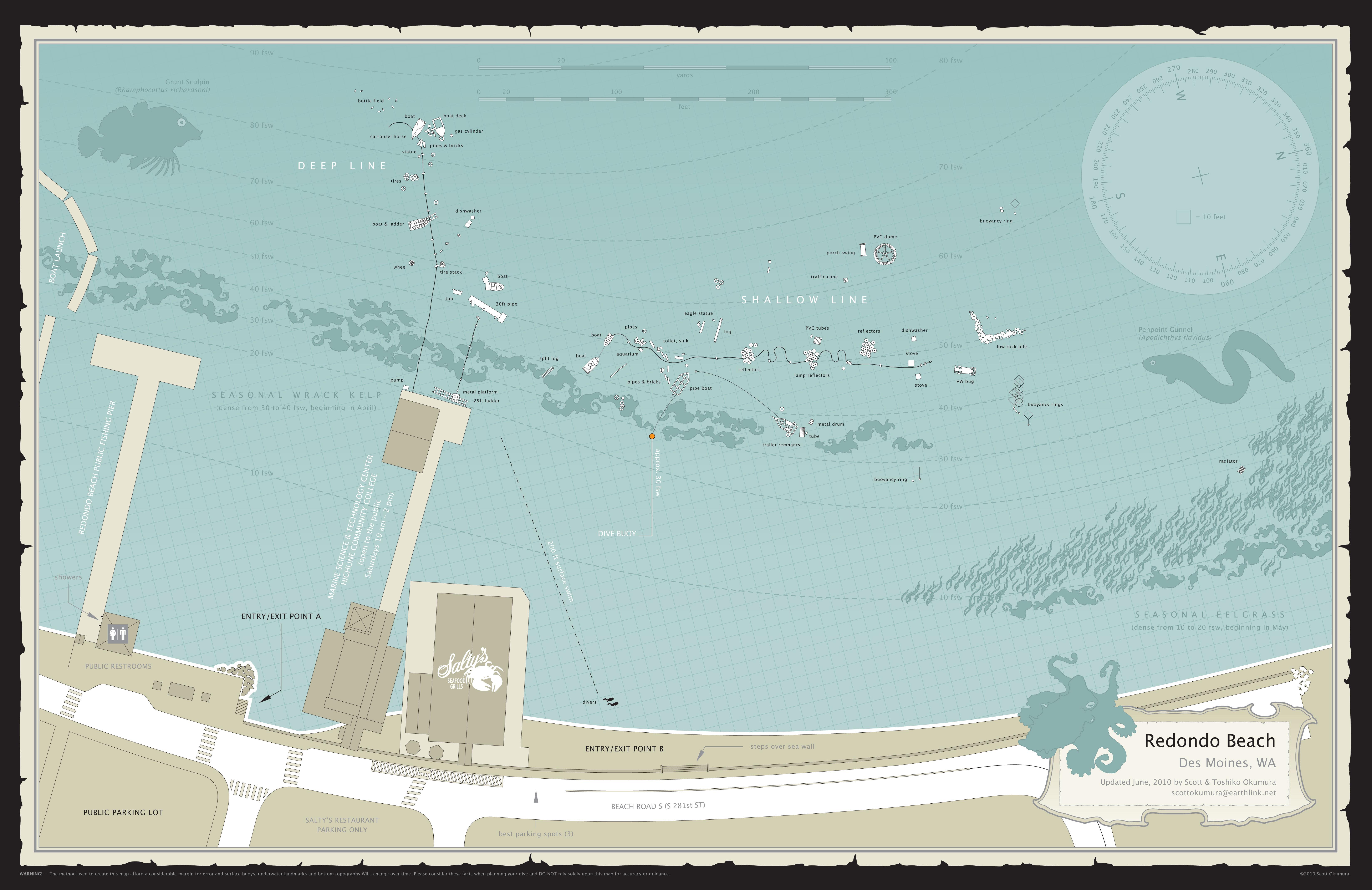 Dive Site Map Of Redondo Beach