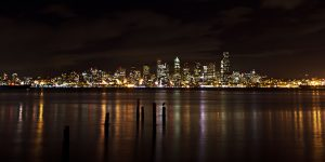 Seattle skyline by Mitchell Tillison