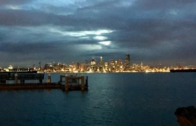 December sunrise in Seattle