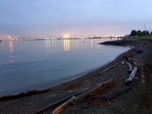 Highest tide of the year (King Tide) at Alki Seacrest Cove 2 in Seattle, WA